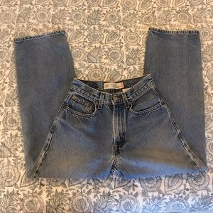 Vintage Levi's Straight Leg Crop Light Wash Jeans